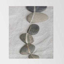 zen pebble line Throw Blanket