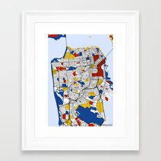 San Francisco Mondrian Framed Art Print