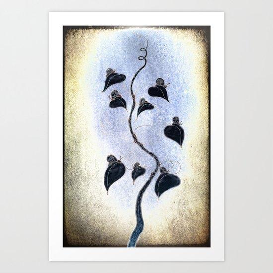 Tree of snails Art Print