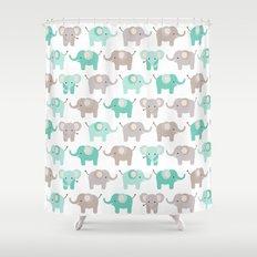 Elephant parade Shower Curtain