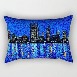 Perth Evening Blues Rectangular Pillow