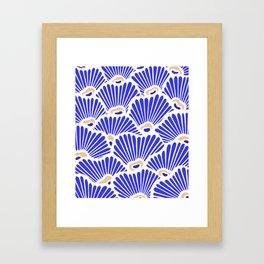 Blue Shell Pattern Framed Art Print
