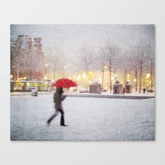Antwerp in the Snow Canvas Print