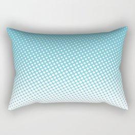 Blue halftone print Rectangular Pillow