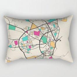 Colorful City Maps: Aarhus, Denmark Rectangular Pillow