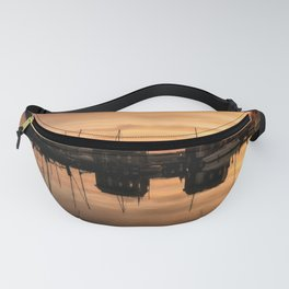 Sunrise at the sea - Harbour Ocean Water Ship Boat Fanny Pack