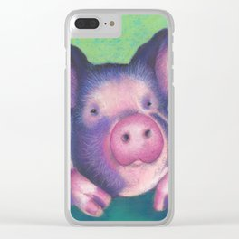 Harold the pig Clear iPhone Case