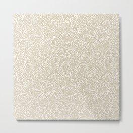 Free Spirit Sand Floral Pattern Metal Print