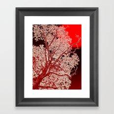 Surreal Red Harmony Framed Art Print