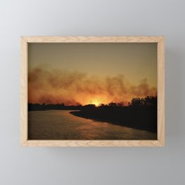 Smoke on the water Framed Mini Art Print