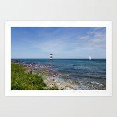 Lighthouse at Penmon Art Print