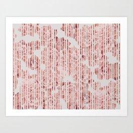 Striped succulenta Art Print