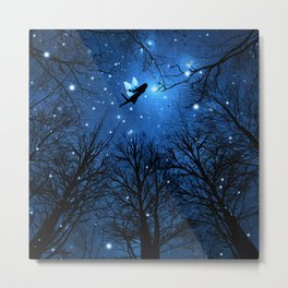 Wisdom Of The Night -The Blue Fairy Metal Print