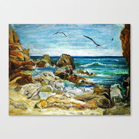 CRAYON LOVE - Costa Brava Canvas Print