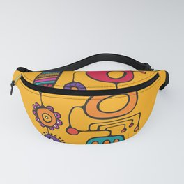 Feather Flower Chime in Color Fanny Pack