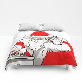 Merry Christmas DJ Santa Nonstop Remix Comforters