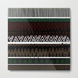 Dark Tribal Pattern Metal Print