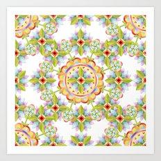 Starflower Blossoms Art Print