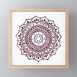 Eggplant Mandala Framed Mini Art Print