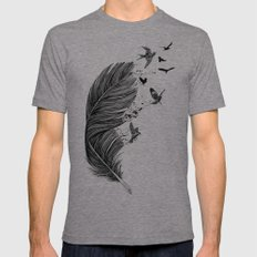 Fly Away Tri-Grey Mens Fitted Tee MEDIUM