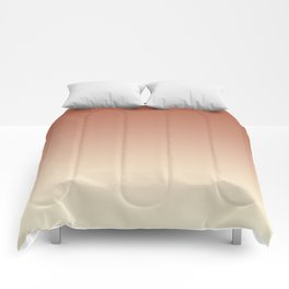 Pratt and Lambert Red River 4-21 and Dover White 33-6 Ombre Gradient Blend Comforters