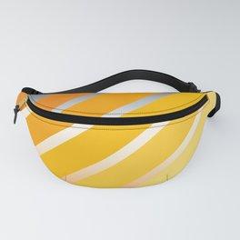 Orange Striped Gradient Fanny Pack