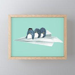 Let's travel the world Framed Mini Art Print