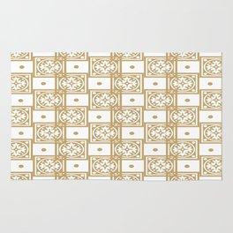 Gold Christmas Pattern-Christmas Series  Rug