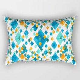 Topsy Turvy Turquoise Rectangular Pillow
