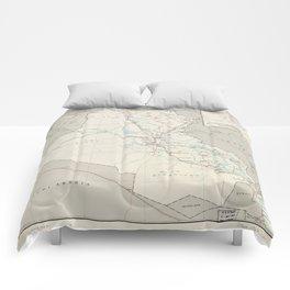 Map of Iraq (1967) Comforters