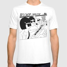 Bob's Burgers x Sonic Youth LARGE Mens Fitted Tee White