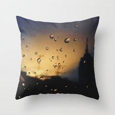 Rainy Traffic Throw Pillow