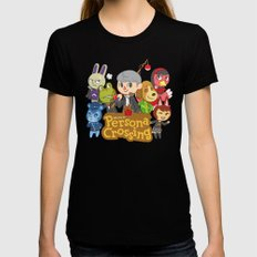 Persona Crossing Black Womens Fitted Tee X-LARGE