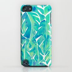 Split Leaf Philodendron – Turquoise iPod touch Slim Case