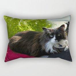 The Feline Queen Reposes (Gracie Queen of Chicago Collection) Rectangular Pillow