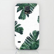 Banana Leaf Watercolor Pattern #society6 Galaxy S5 Slim Case