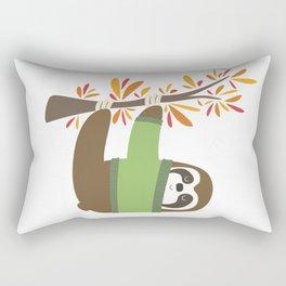 Sweater Weather Sloth Rectangular Pillow