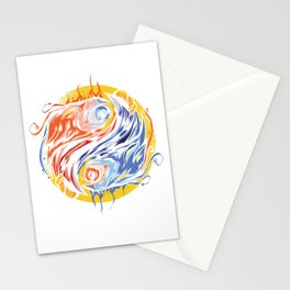Greek Mythology Legendary Creatures Myth Bird Sun Symbol Gift Yin Yang Phoenix Graffiti Stationery Cards
