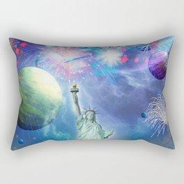 Majestic Statue Of Liberty Rectangular Pillow