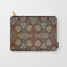 Whirling spirals in earthy early painting style Carry-All Pouch