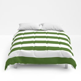 Simply Stripes in Jungle Green Comforters