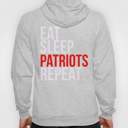 Eat Sleep Patriots Repeat Football Fan Hoody