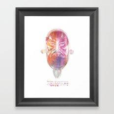 Characteristic Masks Framed Art Print