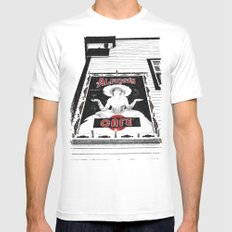 Classic cafe sign Mens Fitted Tee White MEDIUM