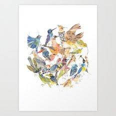 Bird Circle Art Print