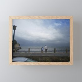 Father and Son Framed Mini Art Print