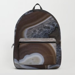 Agate crystal texture Backpack