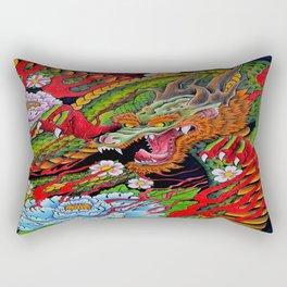 'Defend' 11''x 14'' Colored Pencil and Marker on Bristol Board 2012 Dan Gribben  Rectangular Pillow