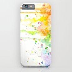 Watercolor Rainbow Splatters Abstract Texture Slim Case iPhone 6
