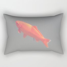 Fish swim in the water tank flock Rectangular Pillow